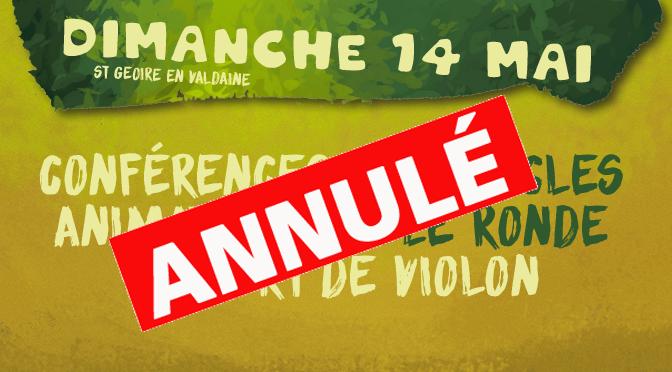 14/05 – Festival Bien l'Bourgeon – St Geoire en Valdaine