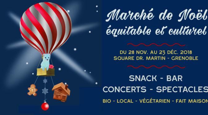 Du 28/11 au 23/12 – Marché de Noël Équitable et Culturel – Square Dr Martin