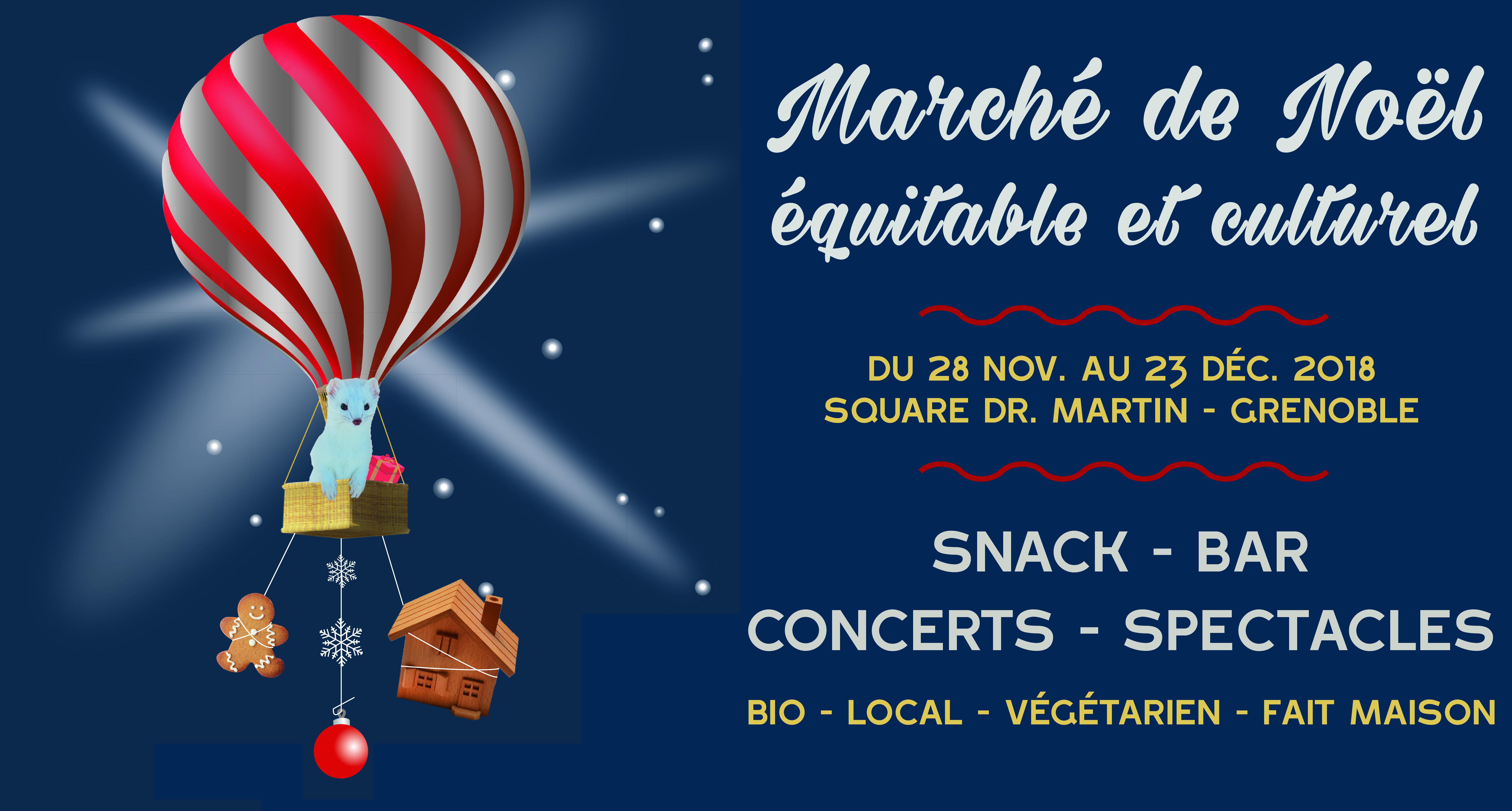 Marché de Noël Equitable et Culturel de Mix'Arts - Grenoble