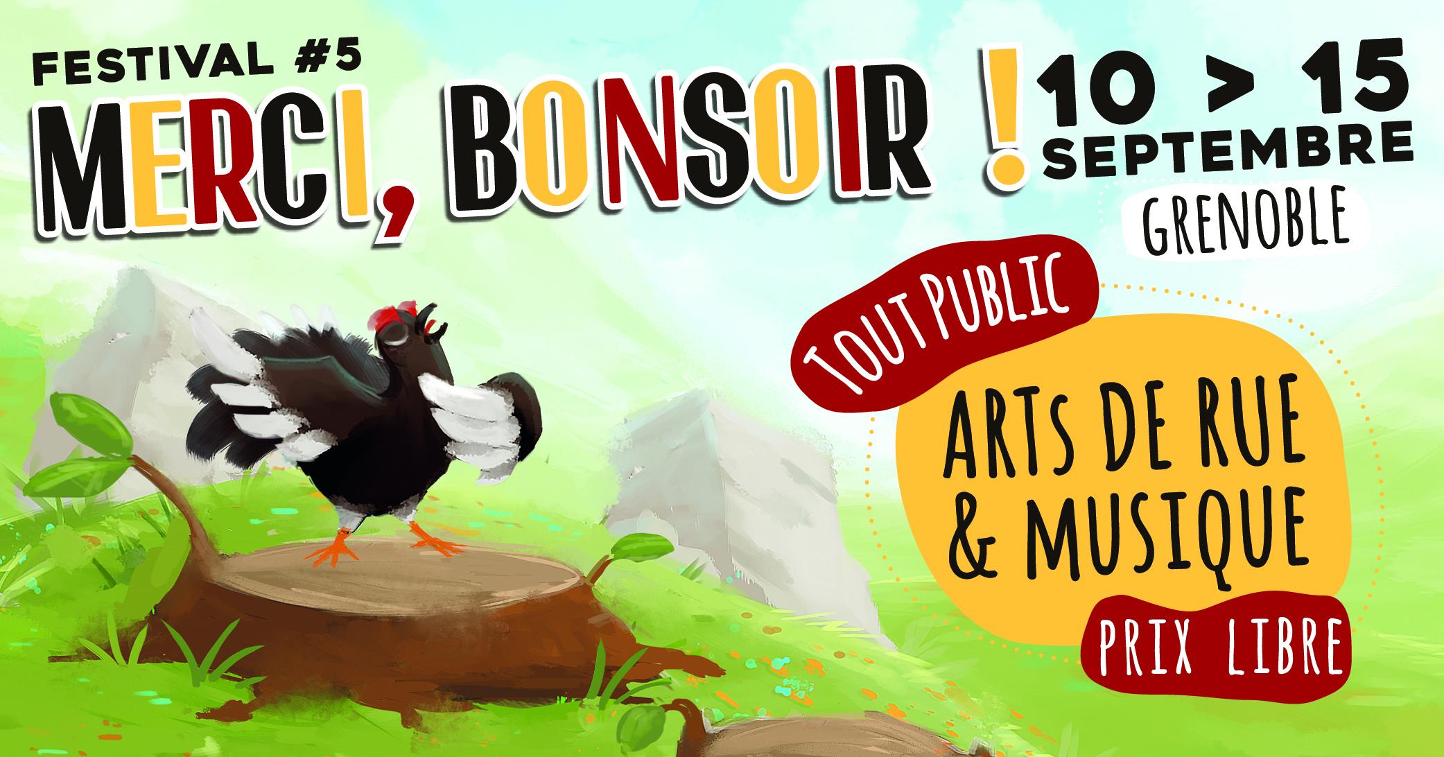 """Festival """"Merci, Bonsoir !"""" #5 - Arts de Rue et Musique - Grenoble - Mix'Arts en co-prod avec Le Prunier Sauvage"""