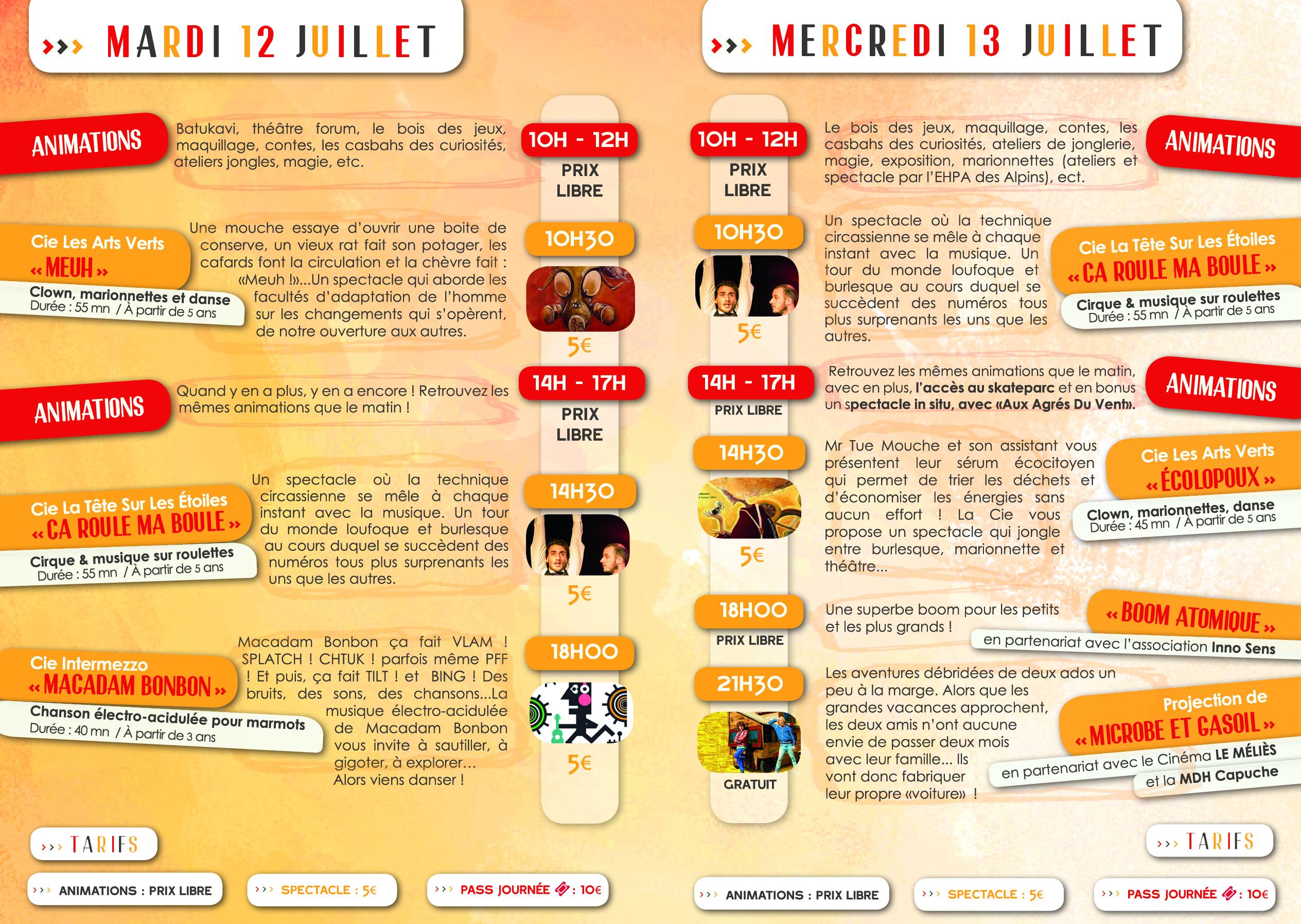 Programme Merci, Bonsoir ! JUNIOR // Association Mix'Arts