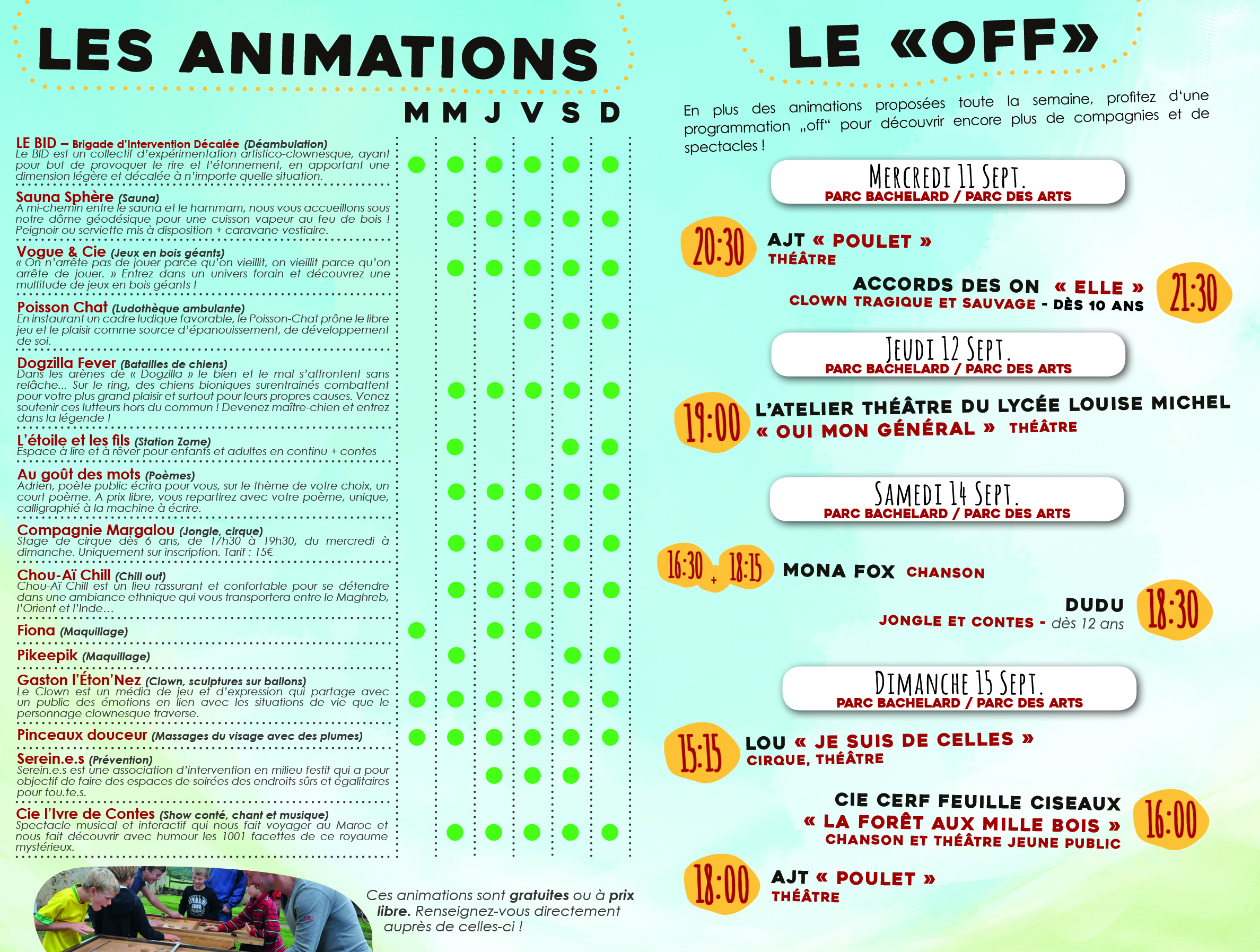 Animations et off - Festival Merci, Bonsoir 5 - Mix'Arts - Grenoble